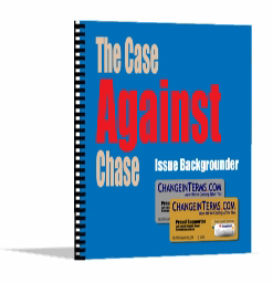 Case Against Chase Issue Backgrounder Report Cover