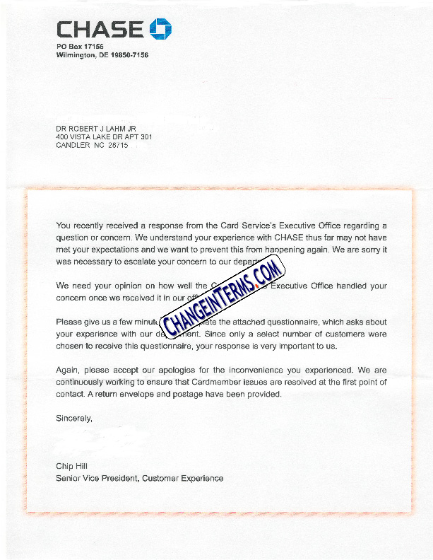 customer satisfaction letter
